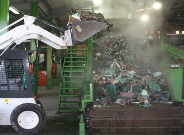 Recycling plant in Africa